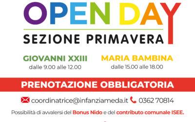 Open Day Sezione Primavera 10 aprile 2021